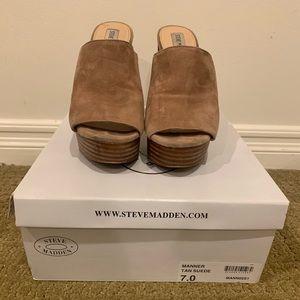 Steve Madden Women's Manner Suede Leather Heel